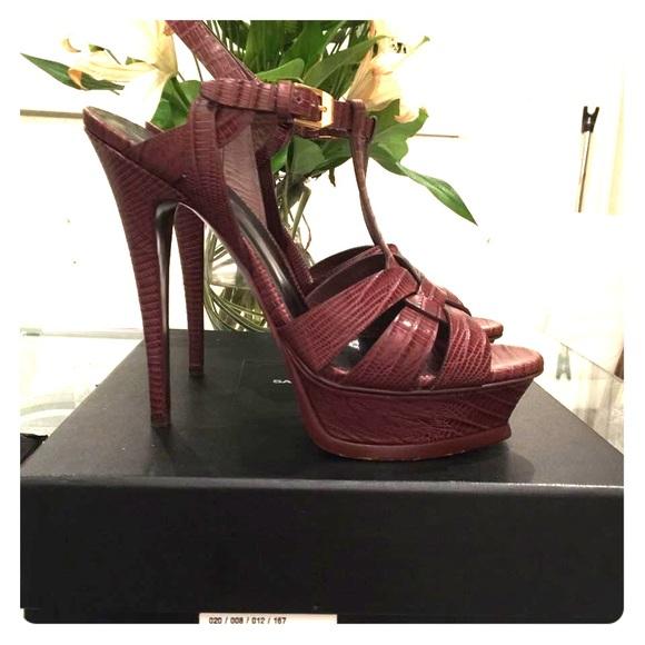 YSL high heel 012 Yves Saint Laurent High heeled shoes Women